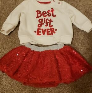 Christmas outfit 3 months